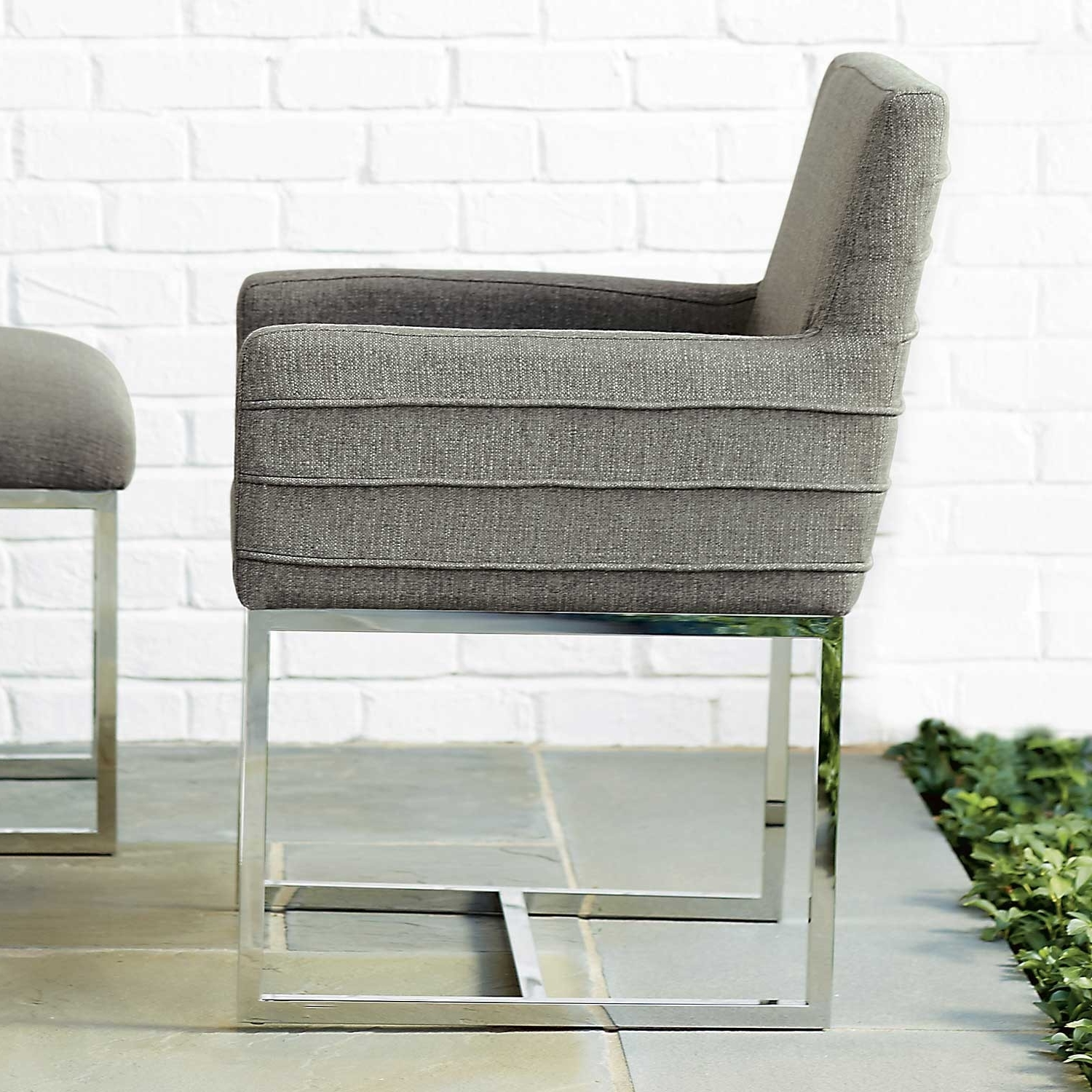 Well Liked Zephyr Cooper Stainless Steel & Upholstered Arm Chair In Dark Gray Pertaining To Cooper Upholstered Side Chairs (View 9 of 20)