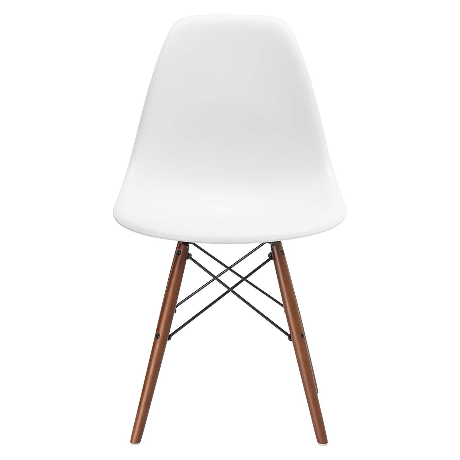 Widely Used Alexa White Side Chairs Within Amazon – Poly And Bark Vortex Side Chair With Walnut Legs In (View 9 of 20)