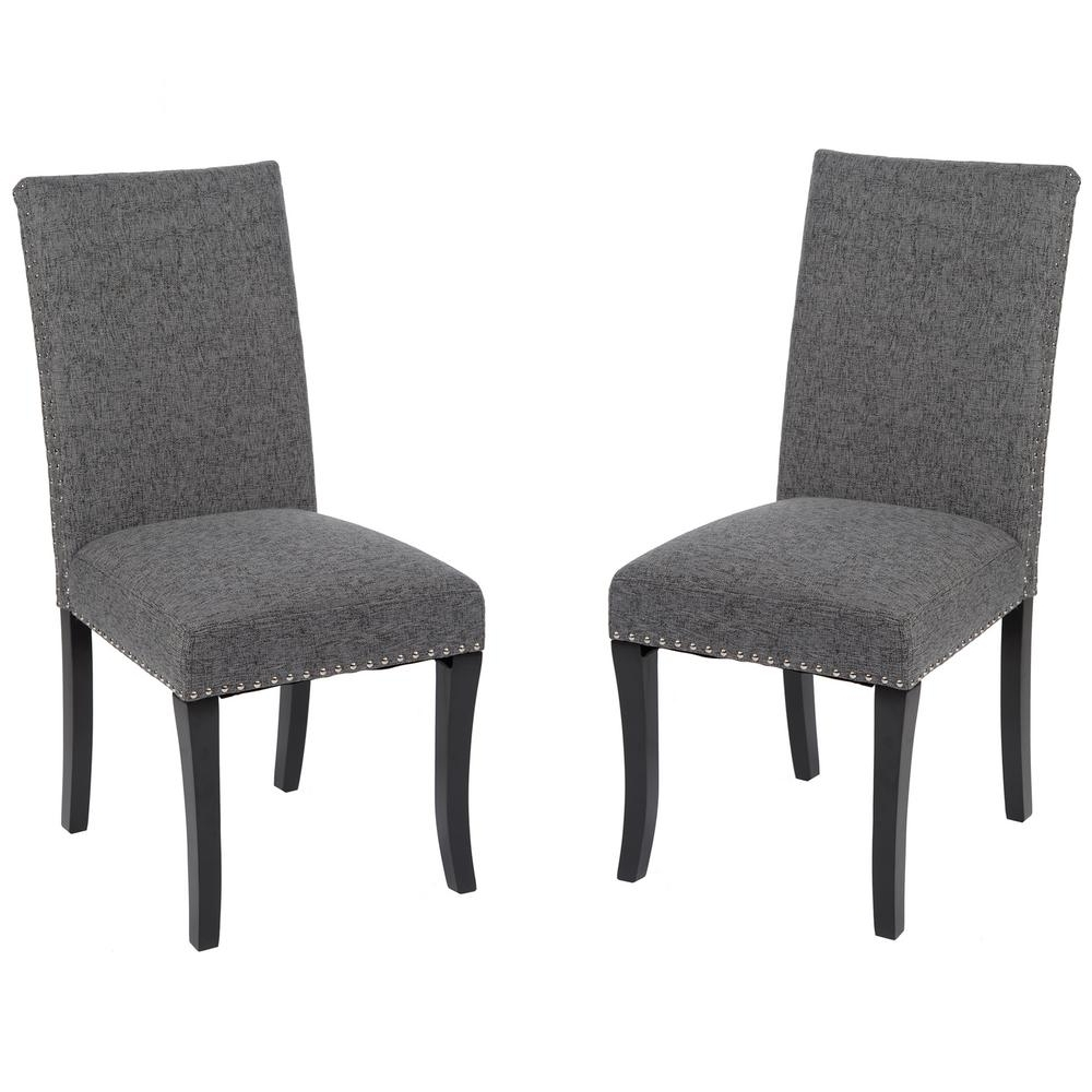 Widely Used Charcoal Dining Chairs With Armen Living Deborah 40 In (View 19 of 20)
