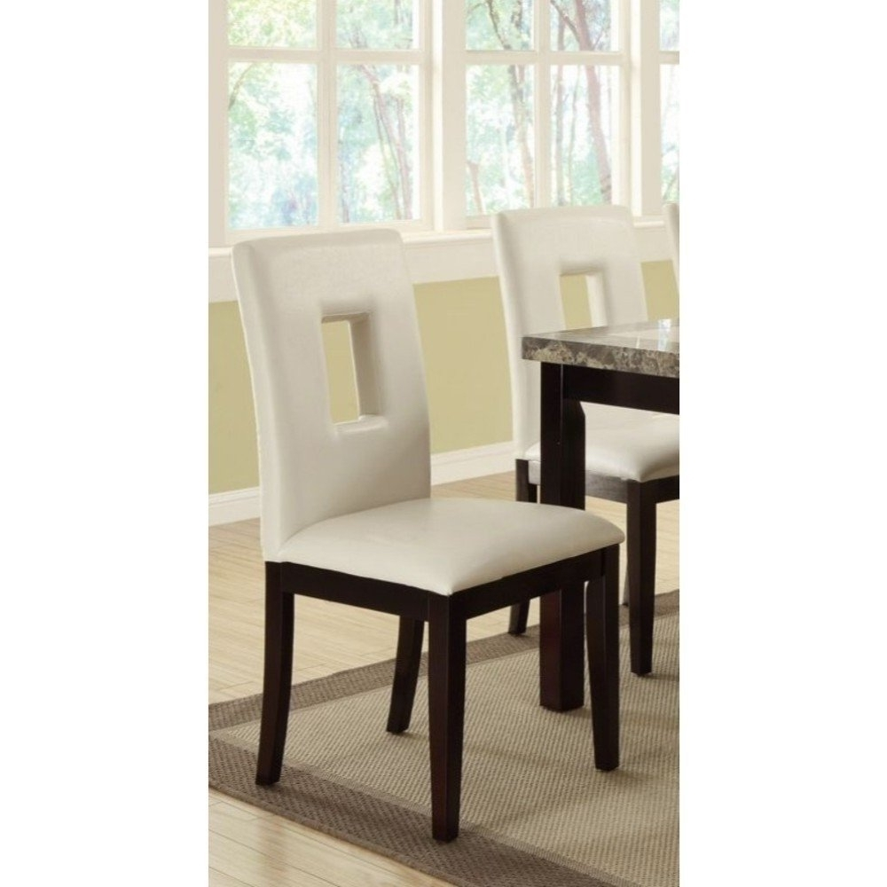 Widely Used Classic Pine Wood Dining Chairs, Set Of 2, White And Brown – Free For Pine Wood White Dining Chairs (View 11 of 20)