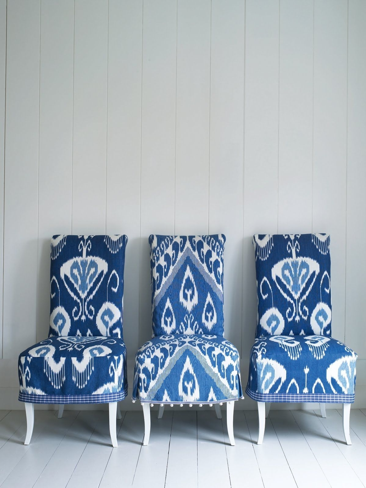 Widely Used Dining Chairs With Blue Loose Seat Within Blue And White Ikat Chairs, Via Interiors Nut (View 20 of 20)