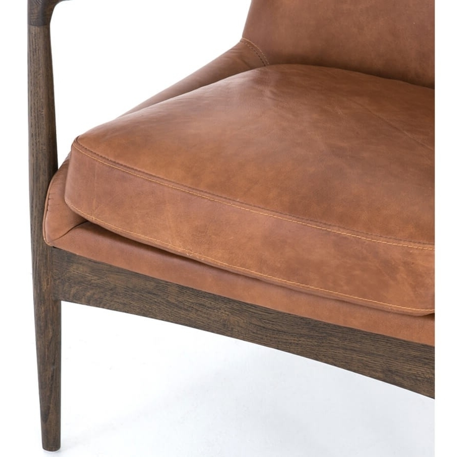 Widely Used Durango Smoke & Warm Cedar Dining Chairs Within Braden Leather Chair, Brandy – Leather – Chairs – Furniture (View 15 of 20)