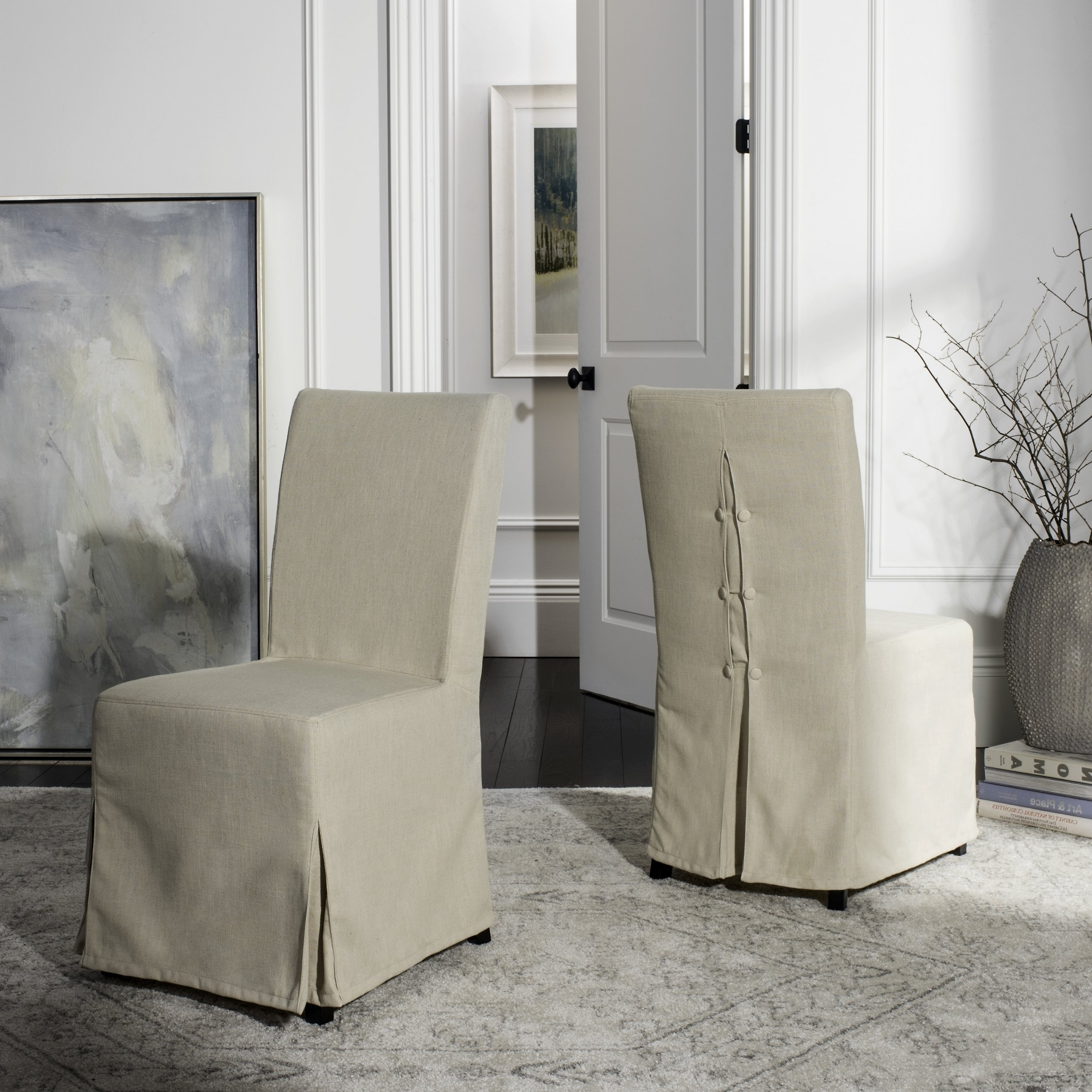 Widely Used Garten Marble Skirted Side Chairs Set Of 2 Inside Shop Safavieh Parsons Dining Slipcover Dining Chairs (Set Of 2) – (View 7 of 20)