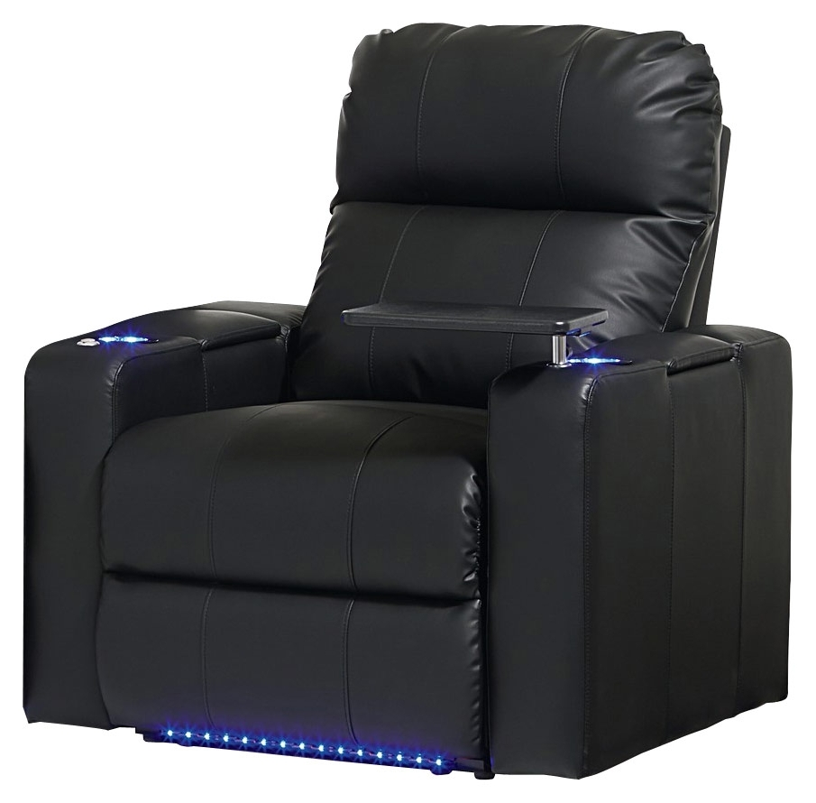 Widely Used Magnolia Home Method Mesh Back Side Chairs Within Octane Seating Turbo Xl700 Straight Manual Recline Home Theater (View 17 of 20)