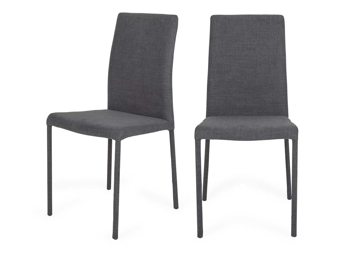 Widely Used Moda Grey Side Chairs Within Bronte Pair Of Dining Chairs (View 20 of 20)