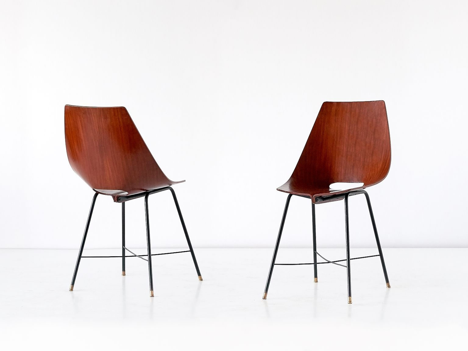 Widely Used Plywood & Metal Brown Dining Chairs For Italian 127 B Plywood Dining Chairs From Societá Compensati Curvati (View 18 of 20)