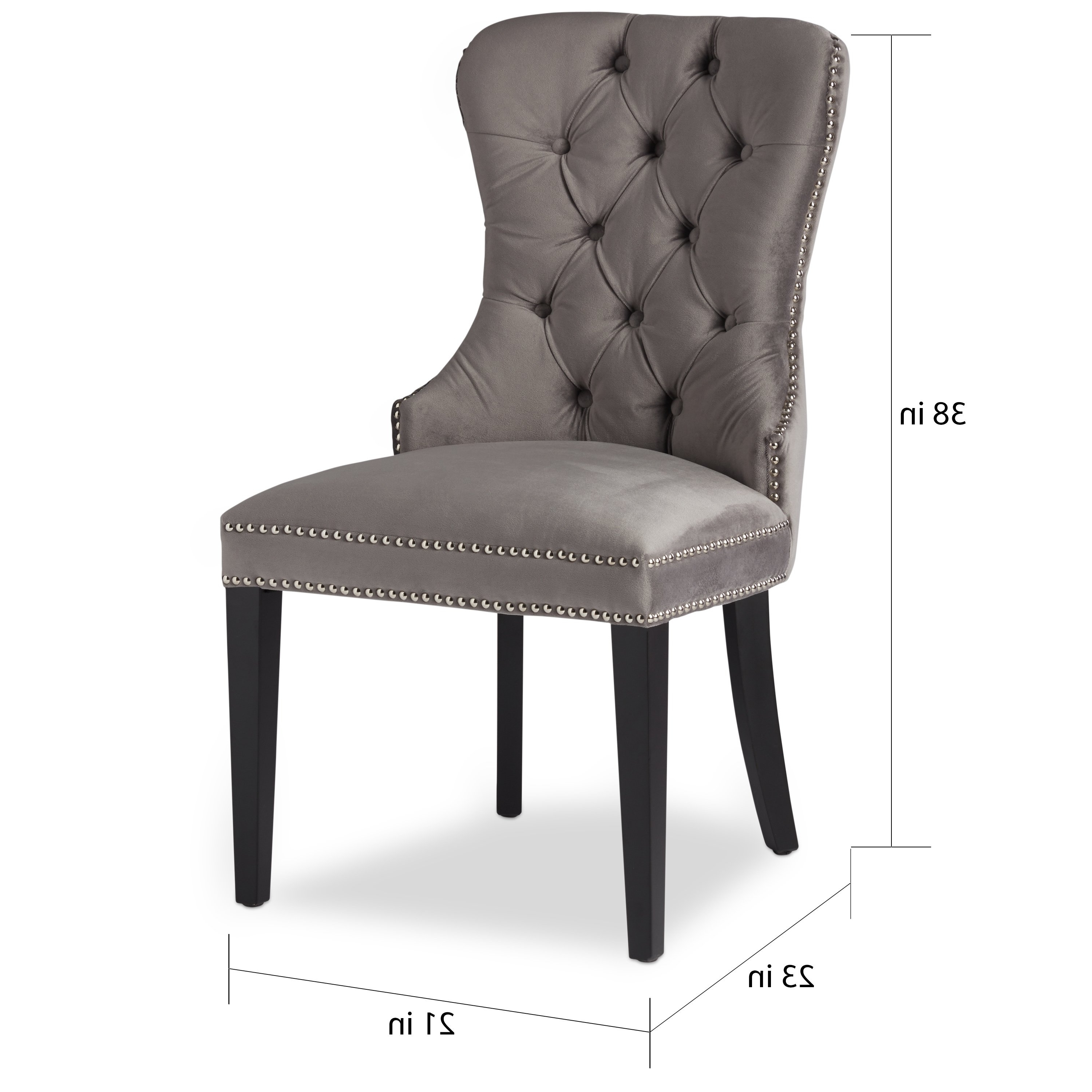 Widely Used Shop Abbyson Versailles Grey Tufted Dining Chair – On Sale – Free With Pilo Grey Side Chairs (View 9 of 20)