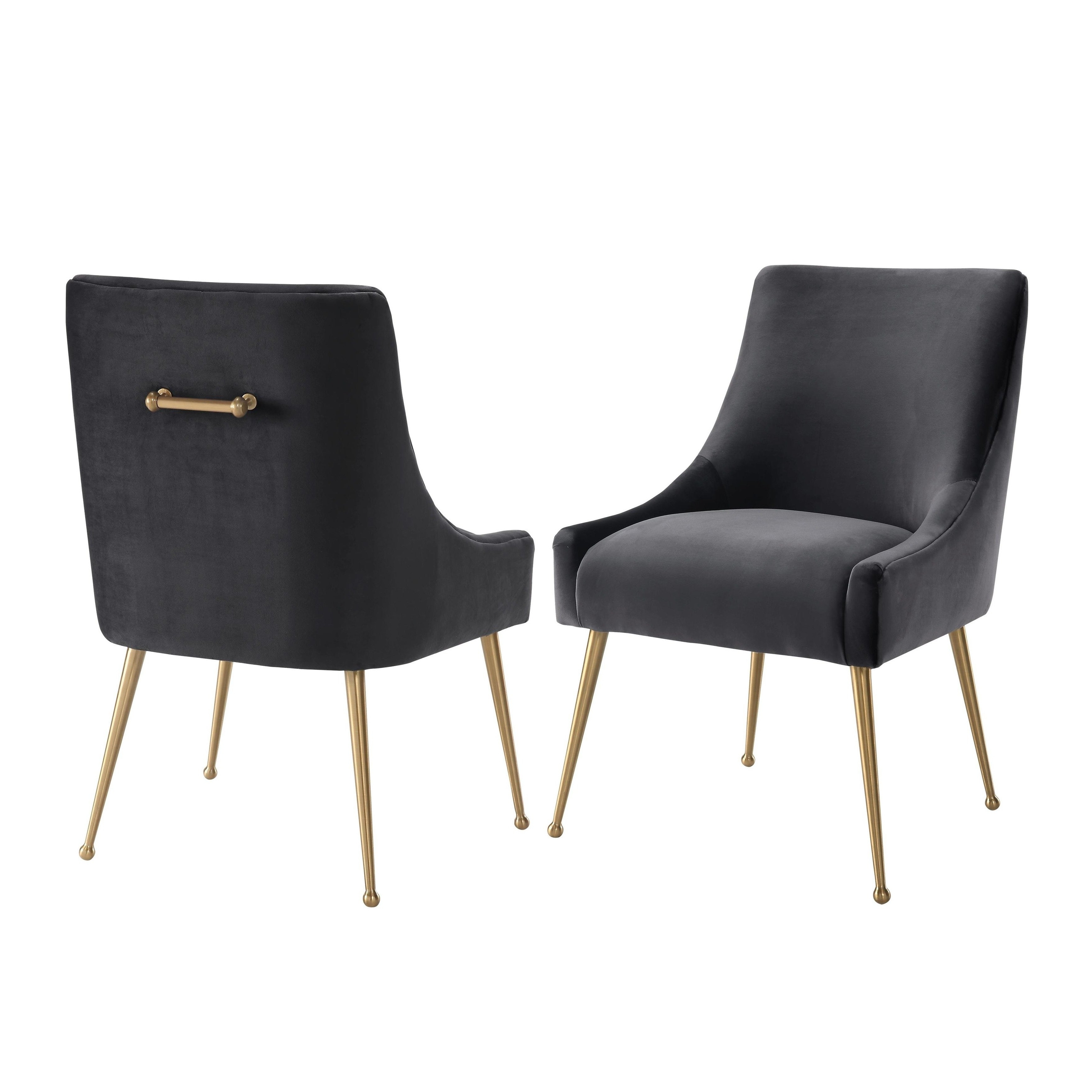 Widely Used Shop Beatrix Grey Velvet Side Chair – Free Shipping Today Intended For Pilo Grey Side Chairs (View 5 of 20)