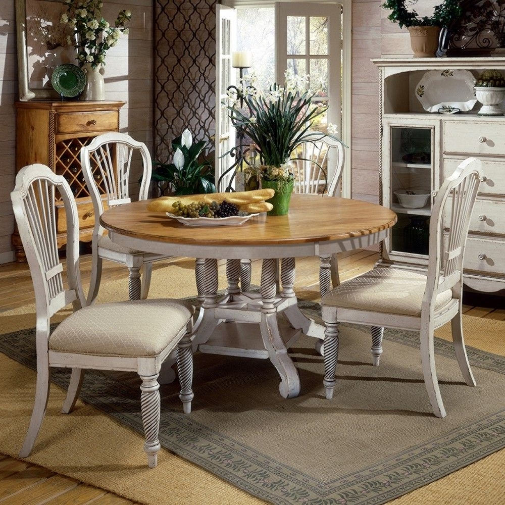 Wilshire Wood Roundoval Dining Table Chairs In Pine In 2018 Pine Wood White Dining Chairs (View 16 of 20)