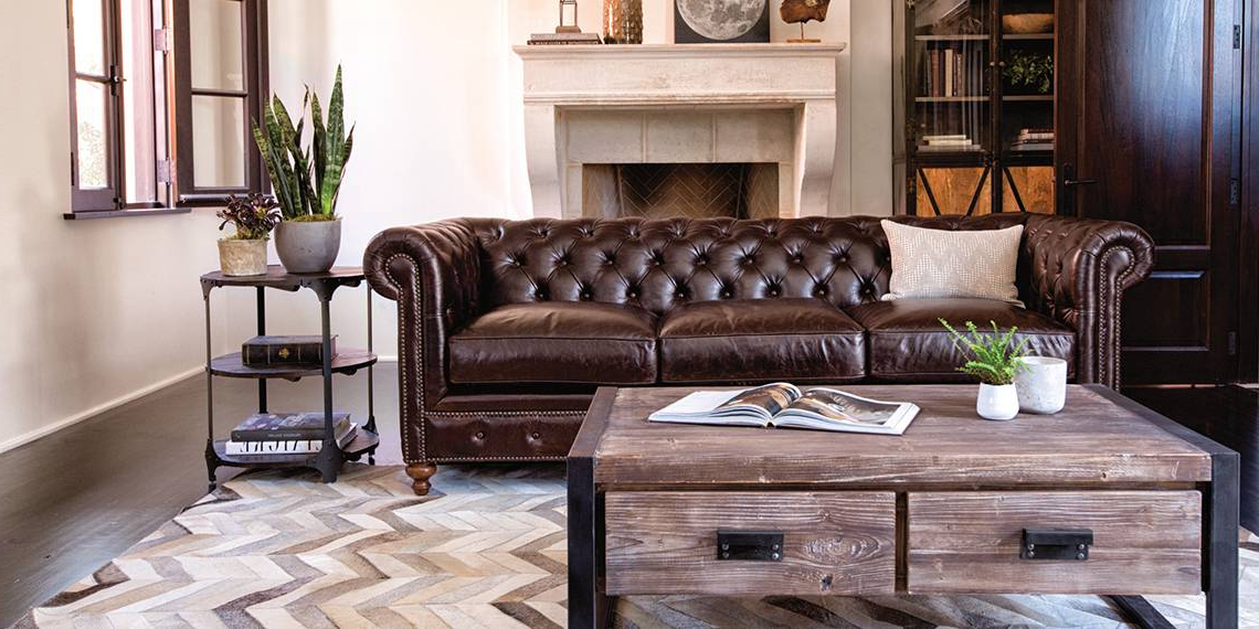 [%100% Leather Industrial Living Room With Mansfield Sofa | Living Spaces With Regard To Most Recently Released Mansfield Cocoa Leather Sofa Chairs|Mansfield Cocoa Leather Sofa Chairs Within Most Recently Released 100% Leather Industrial Living Room With Mansfield Sofa | Living Spaces|2017 Mansfield Cocoa Leather Sofa Chairs Within 100% Leather Industrial Living Room With Mansfield Sofa | Living Spaces|Well Liked 100% Leather Industrial Living Room With Mansfield Sofa | Living Spaces Intended For Mansfield Cocoa Leather Sofa Chairs%] (View 1 of 20)
