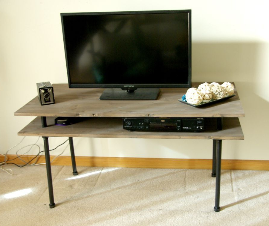 11 Free Diy Tv Stand Plans You Can Build Right Now Within Widely Used 24 Inch Corner Tv Stands (View 2 of 20)