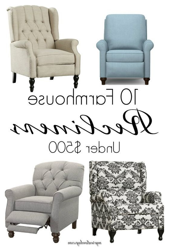 20+ Farmhouse Recliner Chairs Under $600 (Gallery 20 of 20)