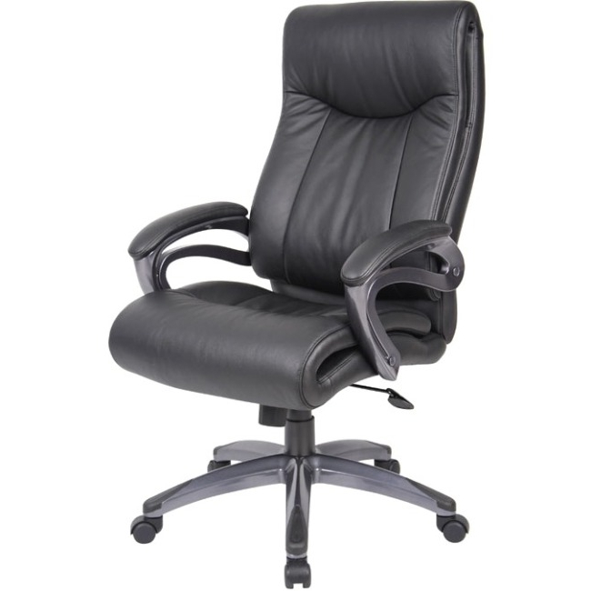 2017 Bopb8661Bk – Lorell B8661 Executive Chair – Office Supply Hut With Regard To Chadwick Gunmetal Swivel Chairs (View 1 of 6)