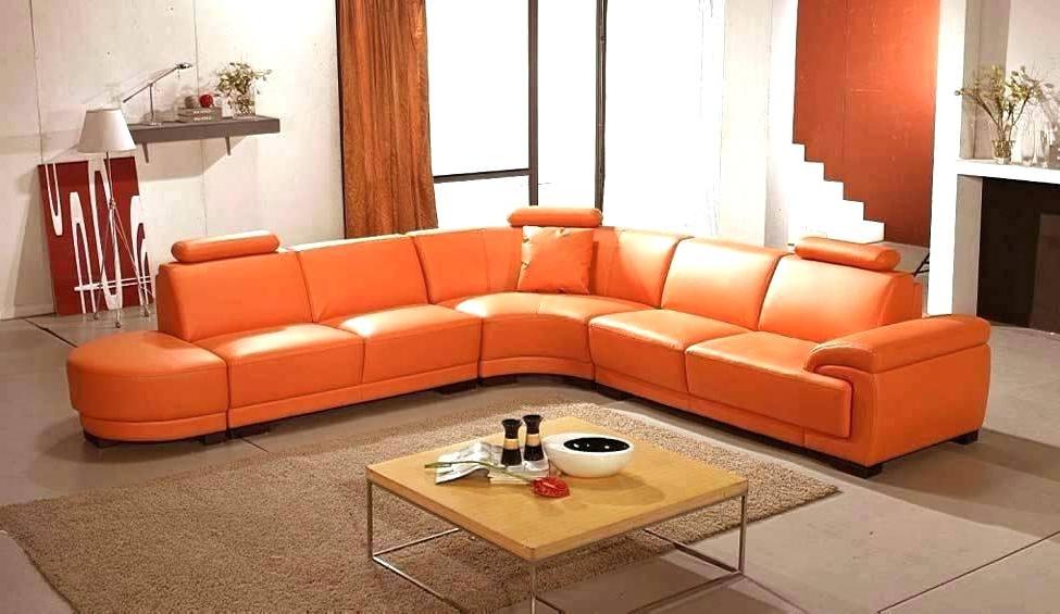 2017 Burnt Orange Furniture Burnt Orange Sofa And Orange Leather Couch Inside Orange Sofa Chairs (View 1 of 20)