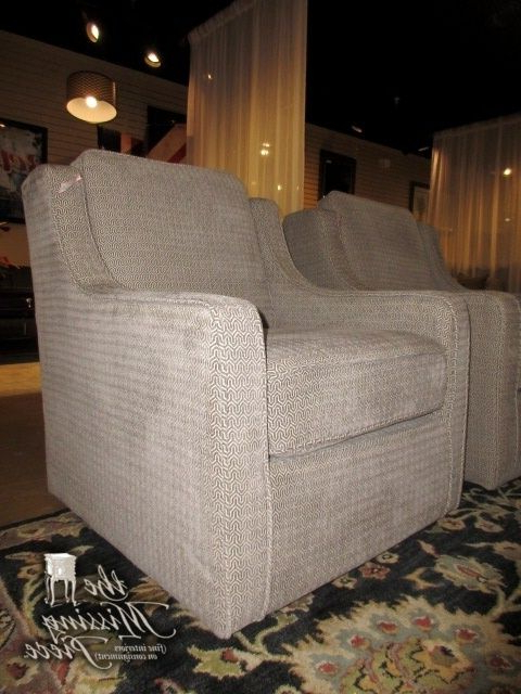 2017 Harris Swivel Accent Chair In A Gray Patterned Upholstery (View 2 of 20)