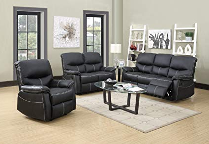 2017 Sofa Loveseat And Chairs Intended For Amazon: Bestmassage Sofa Set Recliner Sofa 3 Pcs Motion Sofa (View 12 of 20)