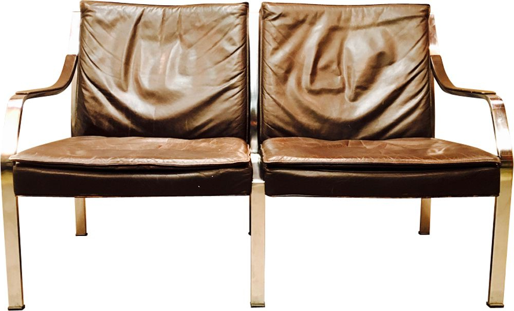 2017 Walter Leather Sofa Chairs With Regard To Vintage 2 Seater Sofa In Brown Leatherwalter Knoll – Design Market (View 1 of 20)