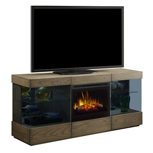 2018 Bale Rustic Grey 82 Inch Tv Stands For Glass Ember Fireplace Tv Stand (Gallery 5 of 20)