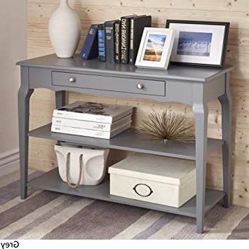 2018 Birch Tv Stands In Amazon: Traditional Daniella Console Table Tv Stand Rubberwood (View 2 of 20)