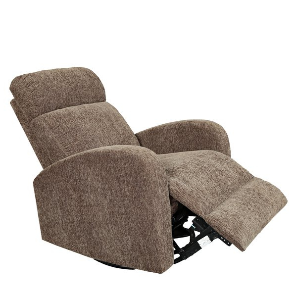 2018 Gannon Linen Power Swivel Recliners Pertaining To Shop Porter Glenn Cocoa Brown Chenille Wireless Power Swivel Rocking (View 1 of 20)