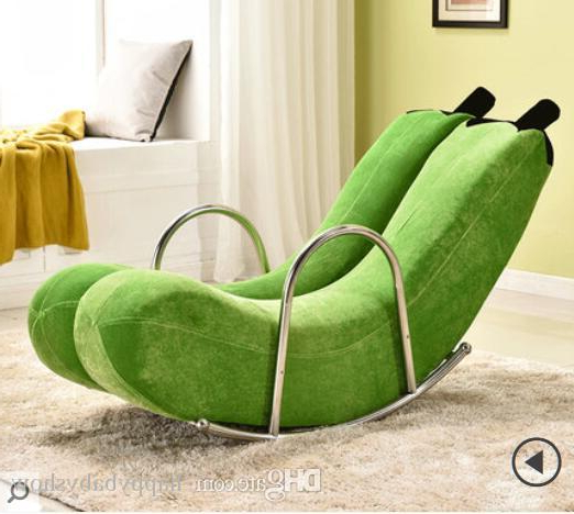 2019 High Quality Brand New Banana Rocking Chair New Sofa One Pcs For Popular Sofa Rocking Chairs (Gallery 1 of 20)