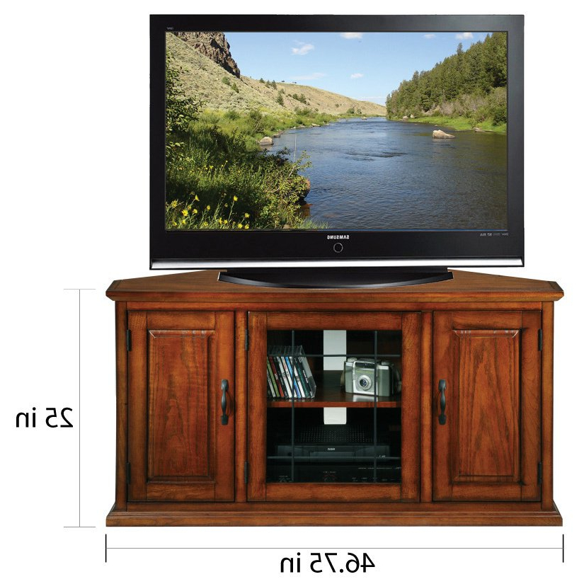 24 Inch Corner Tv Stands Throughout Fashionable Shop Burnished Oak 50 Inch Tv Stand And Media Corner Console – Free (View 6 of 20)
