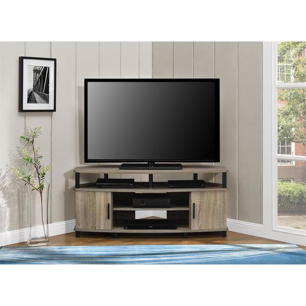 50 Inch Corner Tv Cabinets With Regard To Well Liked Shop Ameriwood Home Carson 50 Inch Sonoma Oak Corner Tv Stand – Free (View 6 of 20)