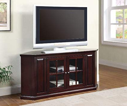 55 Inch Corner Tv Stands For Most Popular Amazon: Coaster 55 Inch Two Door Corner Tv Standcoaster (Gallery 19 of 20)