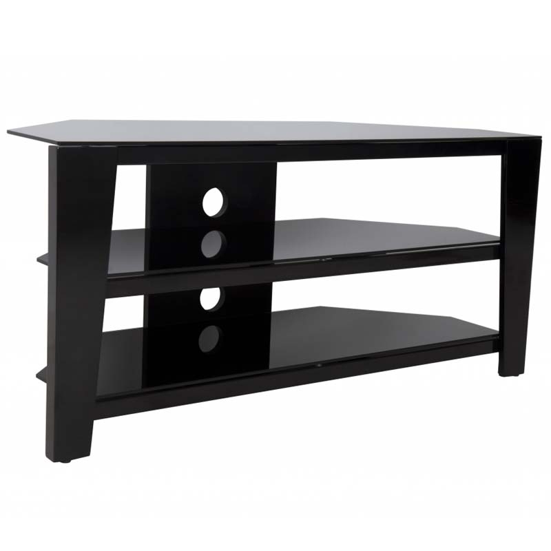 55 Inch Corner Tv Stands Pertaining To Most Recent Avf Vico 55 Inch Corner Tv Stand Glossy Black Fs1050Vib A (View 6 of 20)