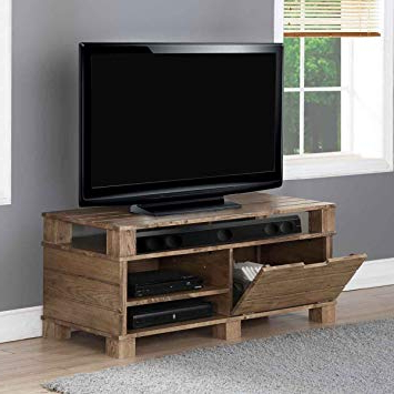 61 Inch Tv Stands With Trendy Jual Solid Wood Rustic Oak Tv Stand For Up To 55 Inch: Amazon.co.uk (Gallery 3 of 20)