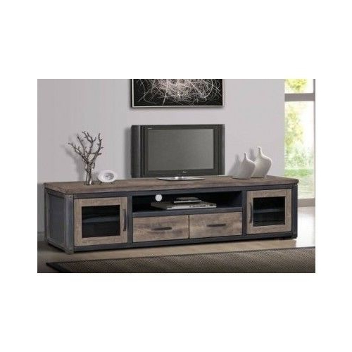 80 Inch Wood Rustic Tv Entertainment Stand Console Media Storage Within Widely Used 80 Inch Tv Stands (View 5 of 20)