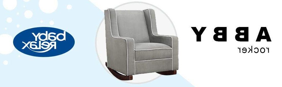 Abbey Swivel Glider Recliners Intended For Recent Amazon: Baby Relax Abby Rocker, Gray – Color: One Color: Baby (View 16 of 20)
