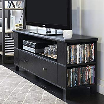 "Abbot 60 Inch Tv Stands With Regard To 2017 Amazon: We Furniture 60"" Black Wood Tv Stand Console: Kitchen (View 5 of 20)"