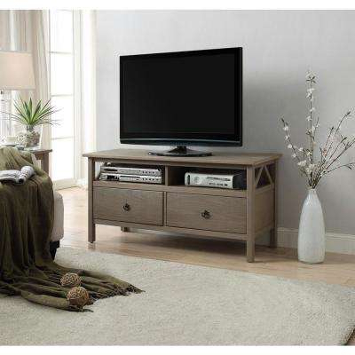 Abbott Driftwood 60 Inch Tv Stands In Fashionable Gray – Tv Stands – Living Room Furniture – The Home Depot (View 3 of 20)