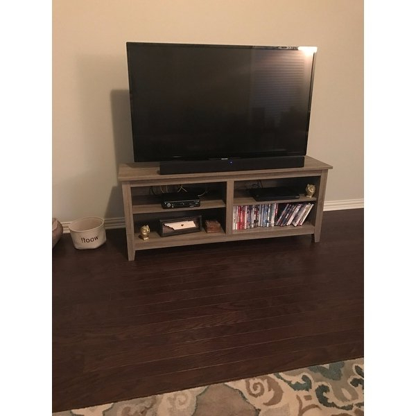 Abbott Driftwood 60 Inch Tv Stands Inside Preferred Shop Porch & Den Dexter 58 Inch Driftwood Tv Stand – Free Shipping (View 5 of 20)