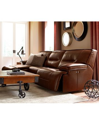 Abbyson Living Zara Leather Reclining Sofa Inside 2018 Moana Taupe Leather Power Reclining Sofa Chairs With Usb (Gallery 16 of 20)