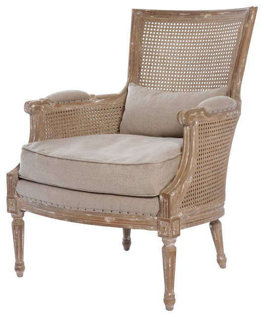 Aidan Gray Ch183 Isla Salon Chair, Cane – Traditional – Armchairs Within Most Up To Date Aidan Ii Swivel Accent Chairs (View 3 of 20)