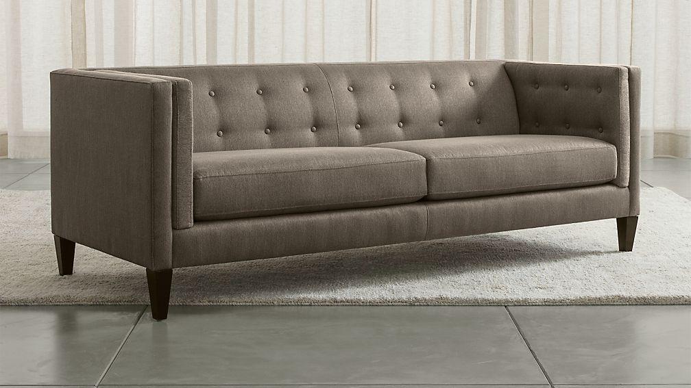 Aidan Ii Sofa Chairs In Popular Aidan Grey Tufted Sofa + Reviews (View 1 of 20)