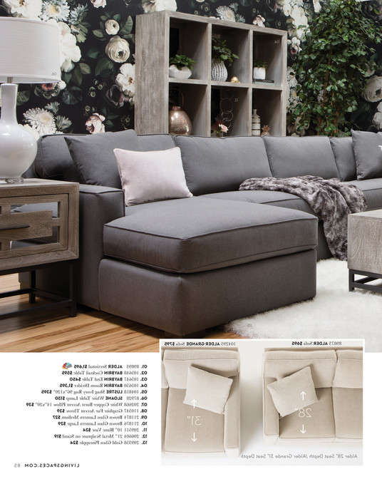 Alder Grande Ii Sofa Chairs Throughout Famous Living Spaces – Fall 2017 – Alder 4 Piece Sectional (Gallery 4 of 12)