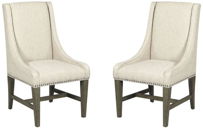 Alder Grande Ii Swivel Chairs Regarding Trendy Kincaid Greyson Lawson Upholstered Host Chair In Alder And White Oak (View 14 of 18)