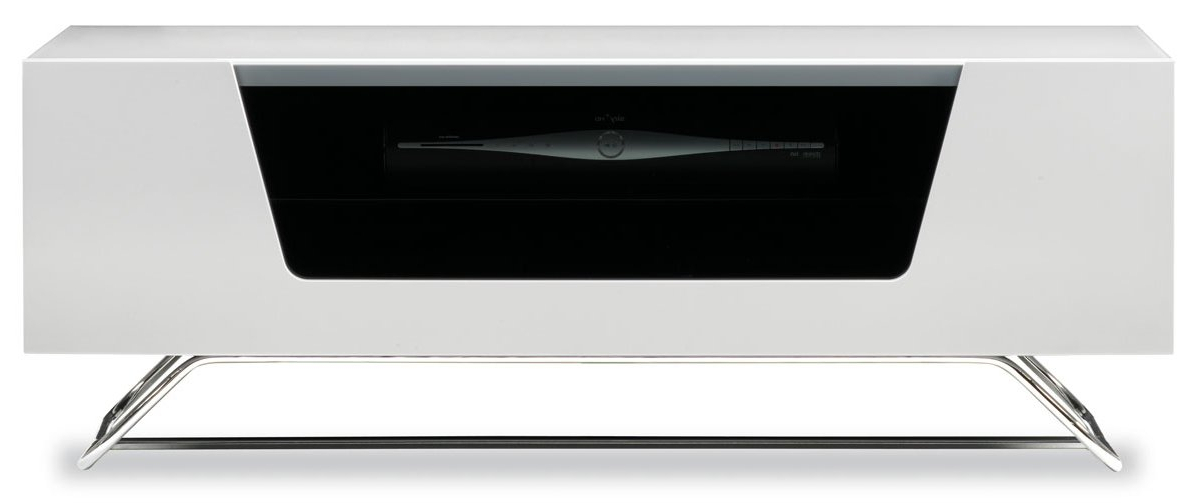 """Alphason Chromium White Tv Stand For Up To 50"""" Tvs With Best And Newest Alphason Tv Cabinets (View 1 of 20)"""