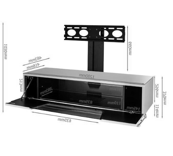 Alphason Tv Cabinets In Most Recently Released Alphason Chromium 1200Mm Tv Stand With Bracket In Black (Cro2 (Gallery 3 of 20)