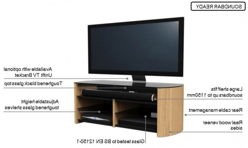 Alphason Tv Cabinets Throughout Most Recent Buy Alphason Finewood Black Oak Tv Cabinet For 58Inch – Fw1350Sb Blk (Gallery 15 of 20)