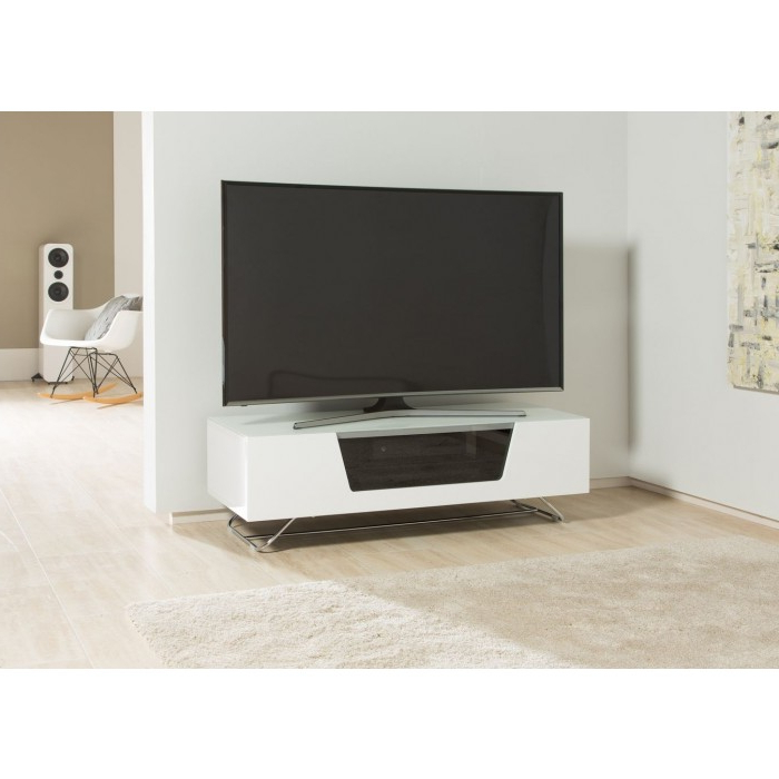 Alphason Tv Cabinets Throughout Newest Alphason Chromium 2 Tv Stand Cro2 1200Cb Wht White Gloss Tv Cabinet (Gallery 18 of 20)