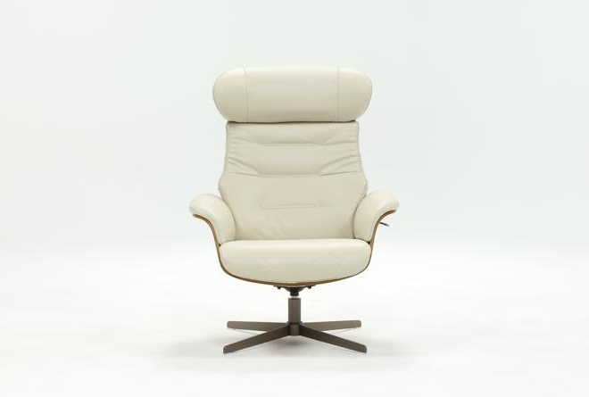 Featured Photo of Amala Bone Leather Reclining Swivel Chairs