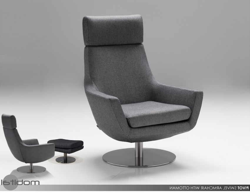 Amala Dark Grey Leather Reclining Swivel Chairs Inside Favorite Amala Dark Grey Leather Reclining Swivel Chair Ottoman Living Spaces (View 10 of 20)
