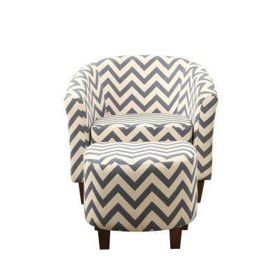 Amari Swivel Accent Chairs With Regard To Newest Chevron – Accent Chairs – Chairs – The Home Depot (Gallery 15 of 20)