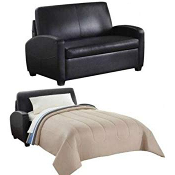 Amazon: Alex's New Sofa Sleeper Black Convertible Couch Loveseat Pertaining To Well Liked Convertible Sofa Chair Bed (View 6 of 20)