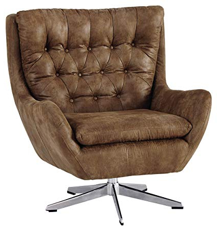 Amazon: Ashley Furniture Signature Design – Velburg 360 Degree Intended For 2017 Umber Grey Swivel Accent Chairs (View 2 of 20)