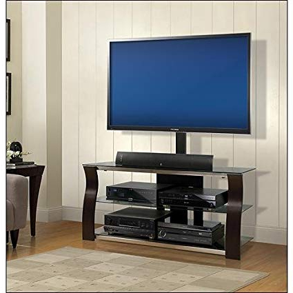 Amazon: Bell'o – Triple Play Tv Stand For Most Flat Panel Tvs Up Inside Well Liked Bell O Triple Play Tv Stands (Gallery 1 of 20)
